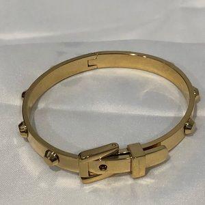 MK gold with studs belt bracelet